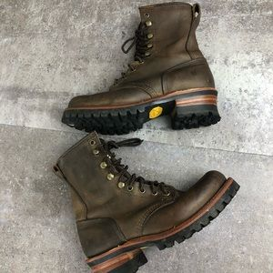 Frye Logger 8G Vibram  Sole Work Boots Size 7.5M